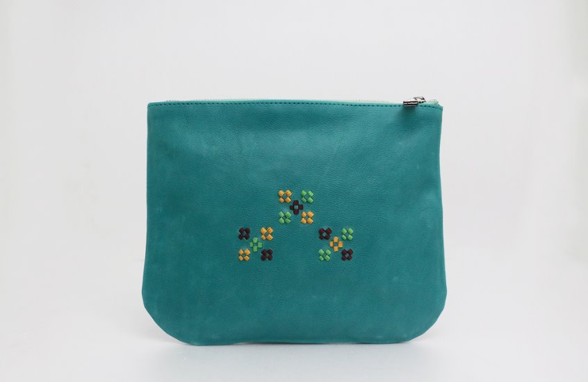 Garden Pouch-Light Peacock BL